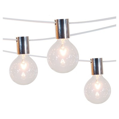 10ct String Lights with Stainless Steel Socket Collar with White Wire™ - Smith & Hawken™
