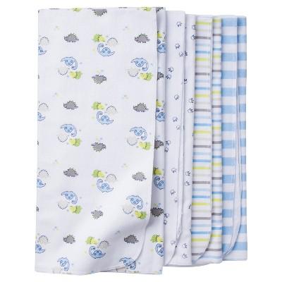 Baby Boys' 4pk Flannel Blanket Set Dinos- Gerber®