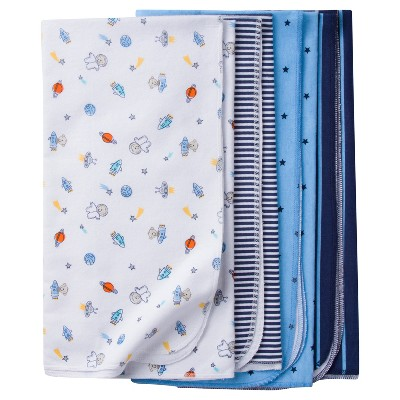 Baby Boys' 4pk Flannel Blanket Set Monkeys - Gerber®