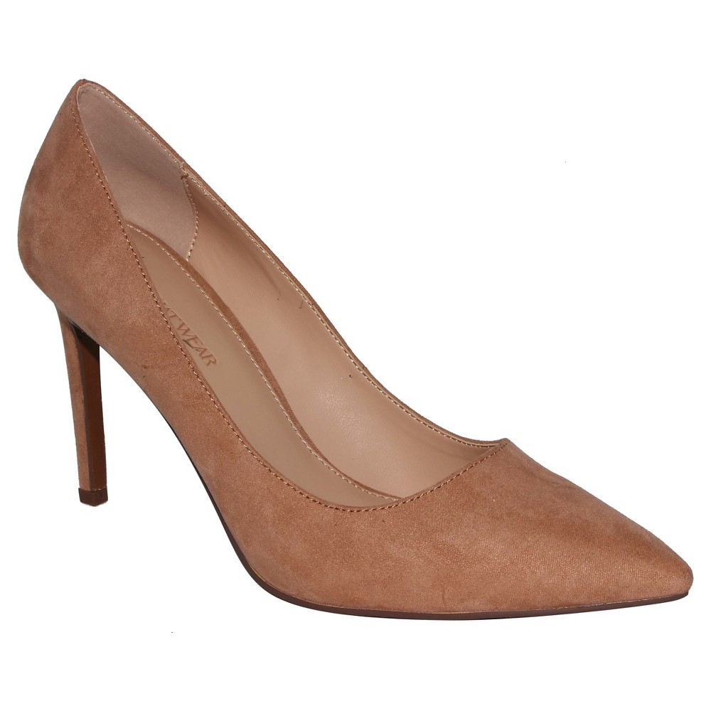 Womens Ally Microsuede Pumps Who What Wear - Tan 9