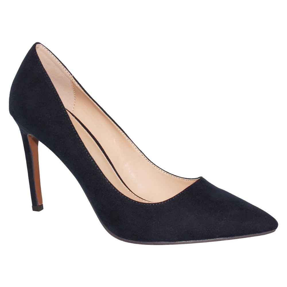Womens Ally Microsuede Pumps Who What Wear - Navy (Blue) 9