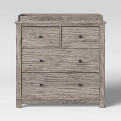 Monterey 4 Drawer Dresser/Changer Combo - Rustic White