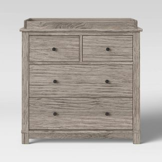 Simmons Kids' Slumbertime Monterey 4 Drawer Dresser with Changing Top - Rustic White