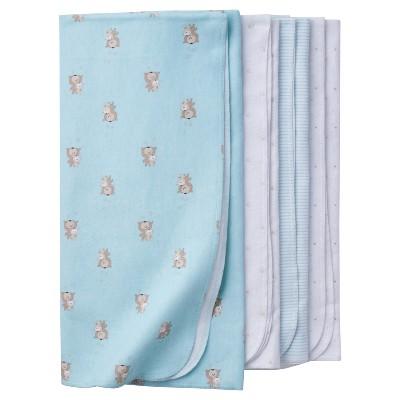 Babys' 4pk Flannel Blanket Set Bears - Gerber®
