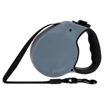 Doggo 16ft Retractable Leash with light - Gray - Large