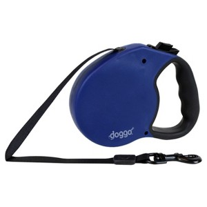 Doggo Retractable Leash with Light - Blue - Large (16