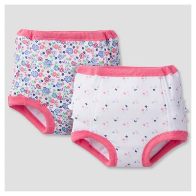 Baby Girls' 2pk Training Pants with Peva Liner Butterfly 2T/3T - Gerber®