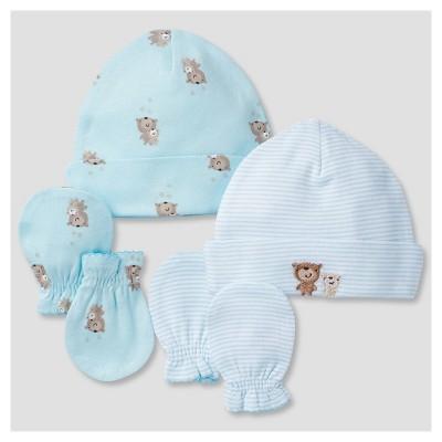 Babys' Cap and Mitten Set (2 Caps, 2 Mittens)Bears - Gerber®