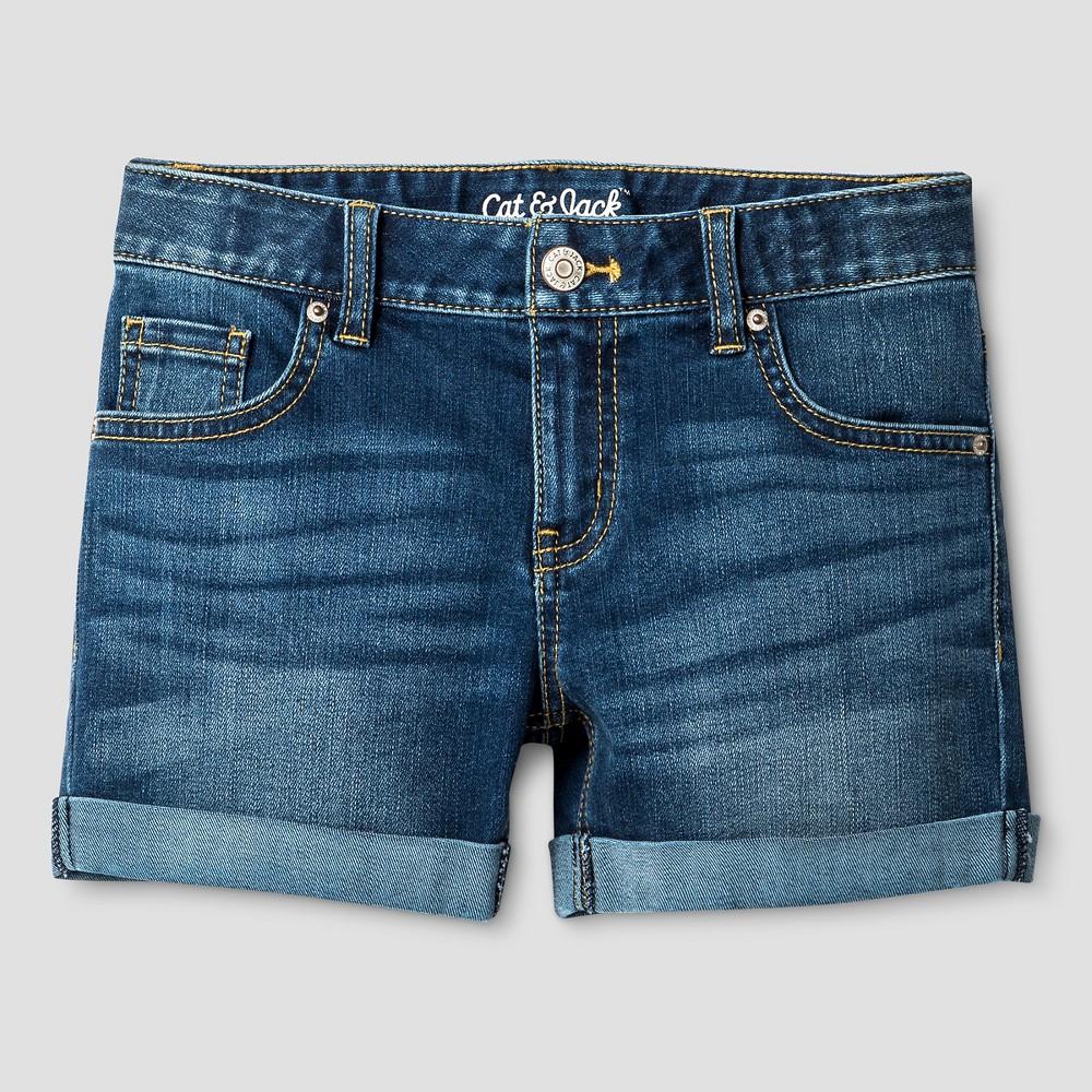 Girls Jean Shorts - Cat & Jack Blue Jay M