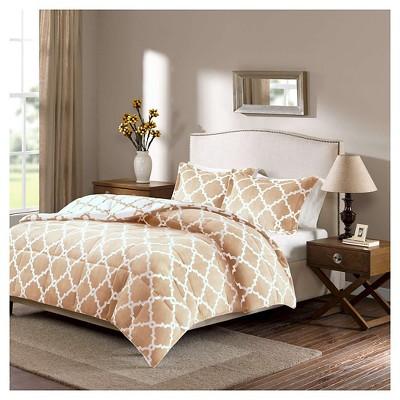 Alston Reversible Plush Comforter Set (King)Tan - 3pc