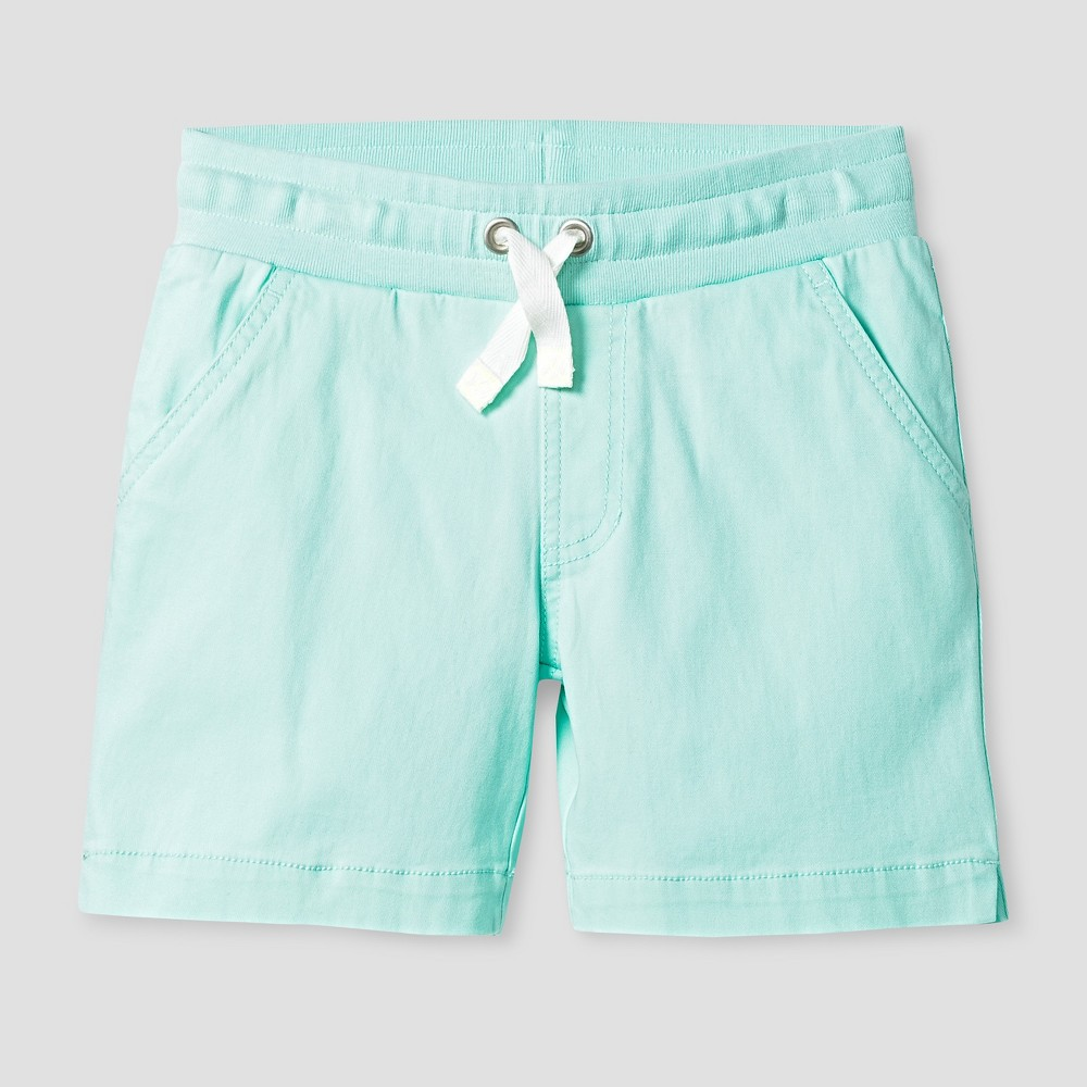 Plus Size Girls Twill Midi Shorts - Cat & Jack Aqua Float Xxl Plus