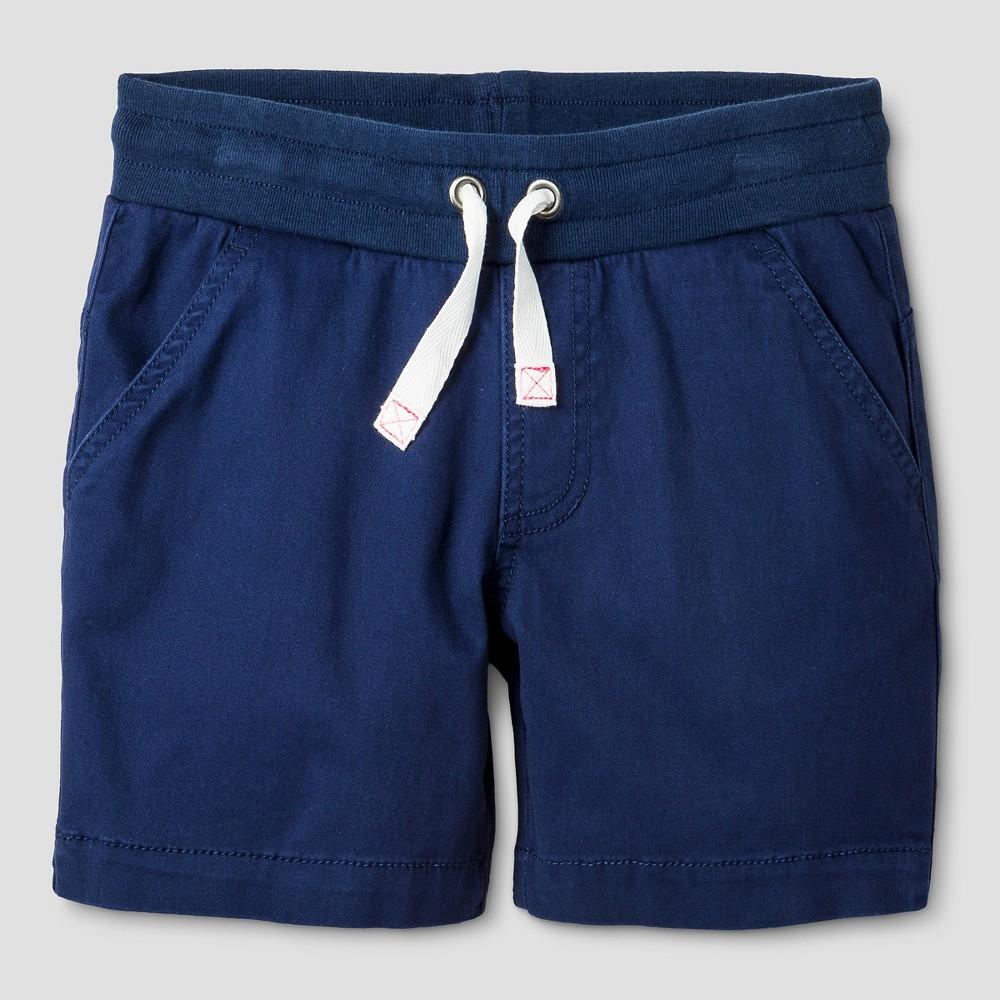 Girls Twill Midi Shorts - Cat & Jack Nightfall Blue L