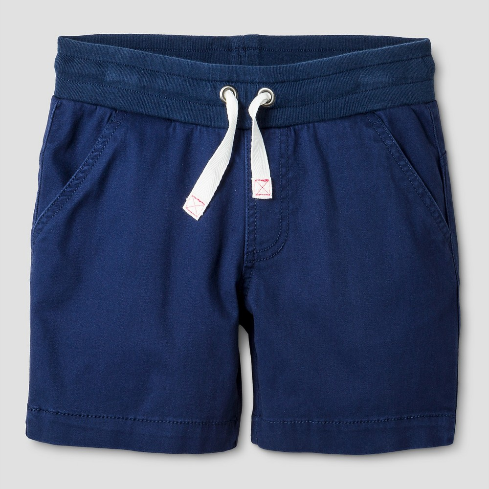 Girls Twill Midi Shorts - Cat & Jack Nightfall Blue XL