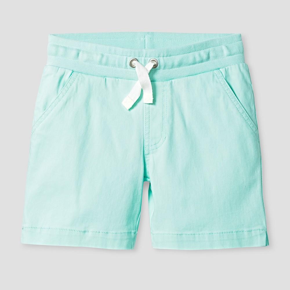 Girls Twill Midi Shorts - Cat & Jack Aqua Float XS