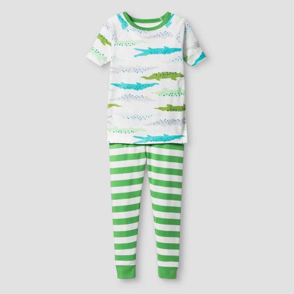 Toddler Boys Organic Cotton 2-Piece Pajama Set Alligators - Cat & Jack Green 3T