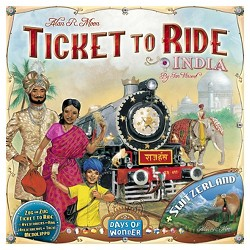 Ticket to Ride India & Switzerland Board Game