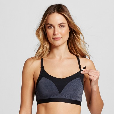 Women's Nursing Yoga Bra - Gilligan & O'Malley™ Blue/Black L