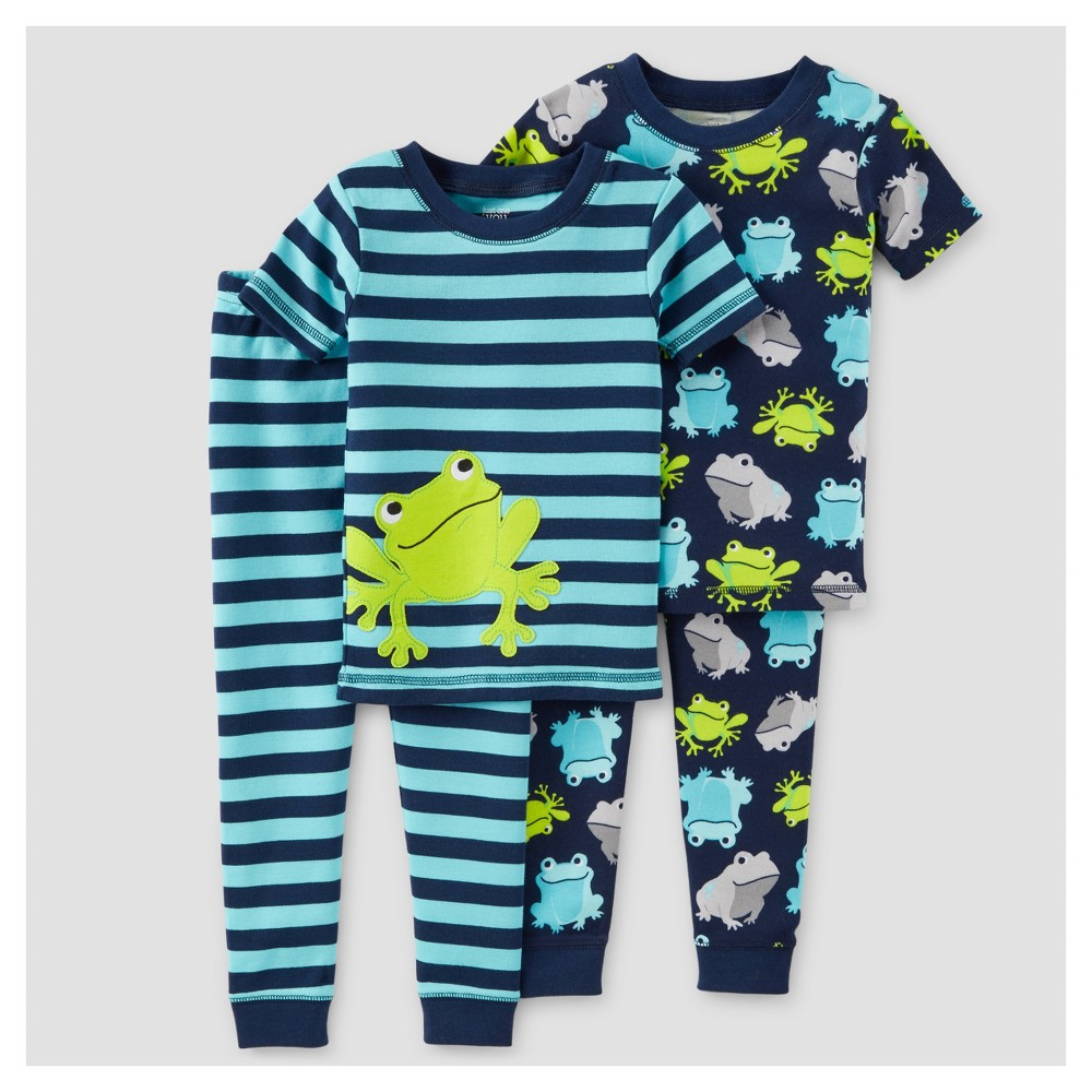 Toddler Boys' 4-Piece Snug Fit Cotton Pajamas Frogs 2T – Just One You Made by Carter's, Toddler Boy's, Blue