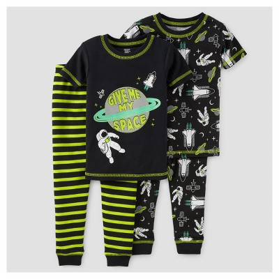 Toddler Boys' 4pc Outer Space Snug Fit Cotton Pajama - Just One You™ Made by Carter's® Black 12M