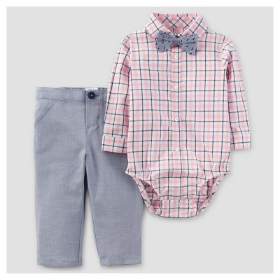Baby Boys' 3pc Dressy Bow Tie Set - Just One You™ Made by Carter's® Rose 6M