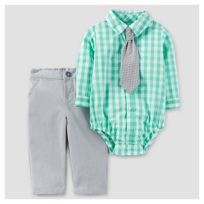 Baby Boys' 3pc Vest Dressy Set - Just One You™ Made by Carter's® Green NB