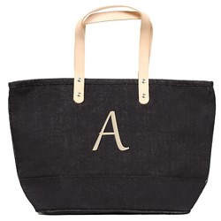 Women's Monogram Black Nantucket Tote Handbag - Cathy's Concepts