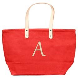 Women's Monogram Red Nantucket Tote Handbag - Cathy's Concepts
