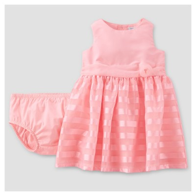 Baby Girls' Rosette Dress - Just One You™ Made by Carter's® Pink NB