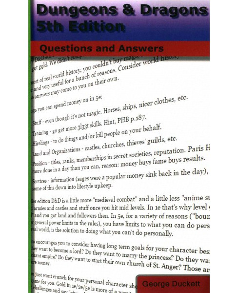 Dungeons & Dragons : Questions and Answers (Paperback) (George Duckett) - image 1 of 1