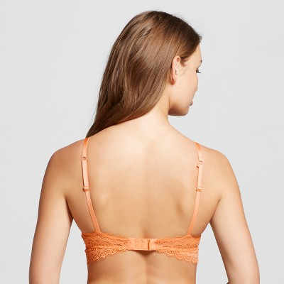 Women's Long Line Lace Push-Up Bra - Xhilaration - Jovial Orange 32B