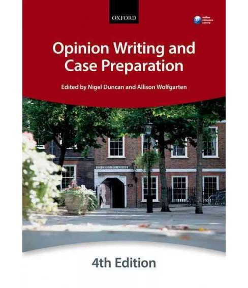 Opinion Writing and Case Preparation (Paperback) (City Law School) - image 1 of 1