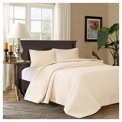 Margaux Bedspread Set (Queen)Ivory - 3pc