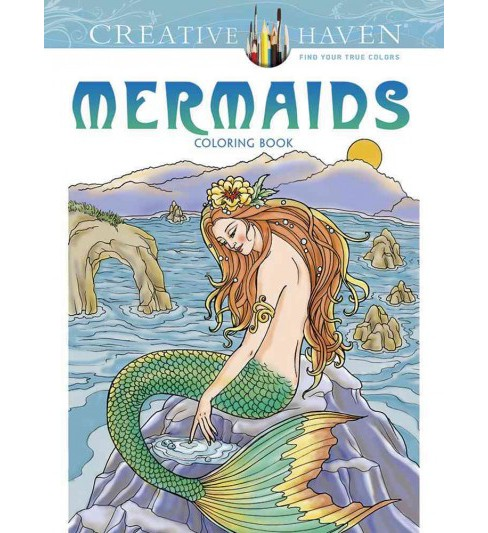 Mermaids Coloring Book (Paperback) (Barbara Lanza) - image 1 of 1