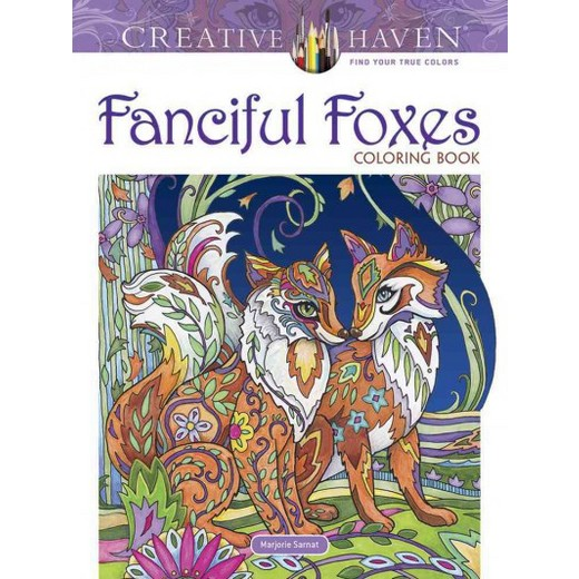 Fanciful Foxes Coloring Book Paperback Marjorie Sarnat
