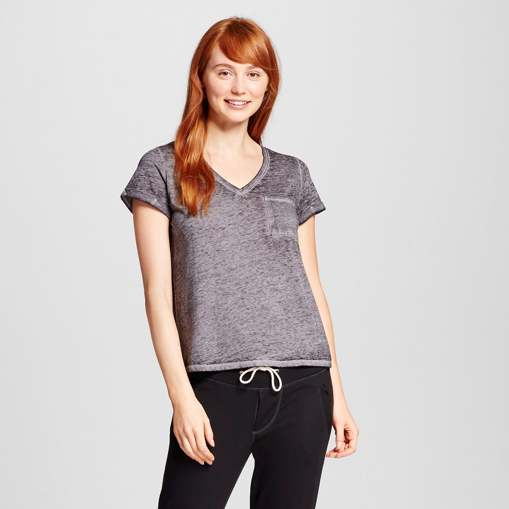 Womens Burnout T-Shirt - Xhilaration - Black S