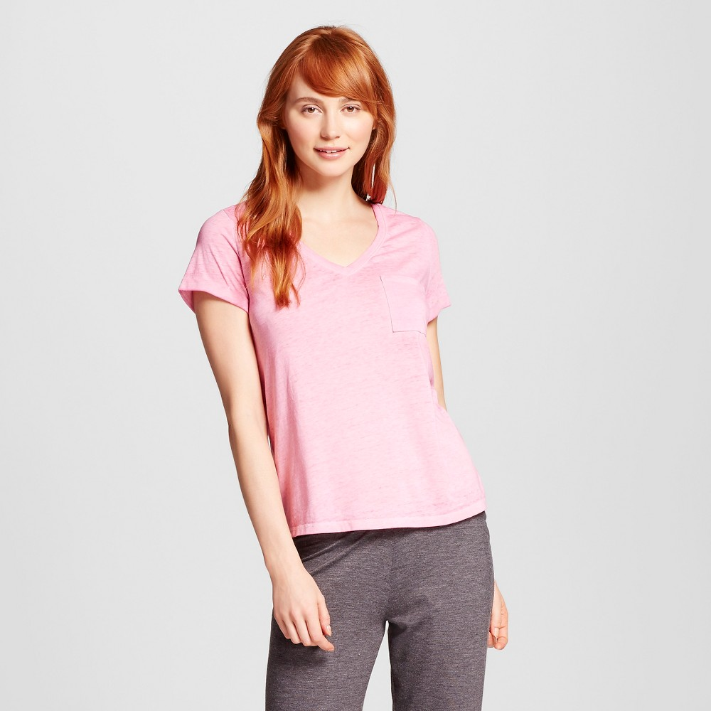Womens Burnout T-Shirt - Xhilaration - Polka Dot Pink S