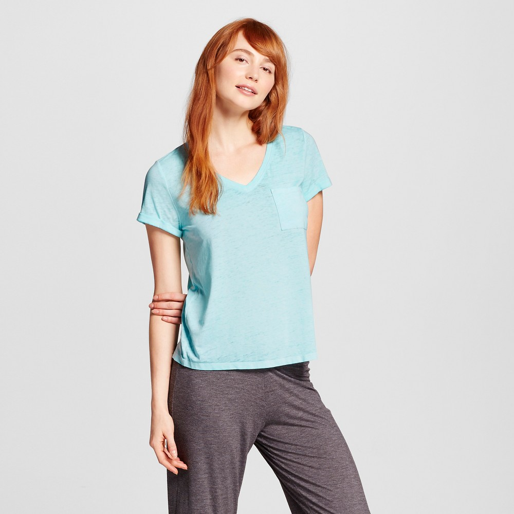 Womens Burnout T-Shirt - Xhilaration - Sheer Turquoise L