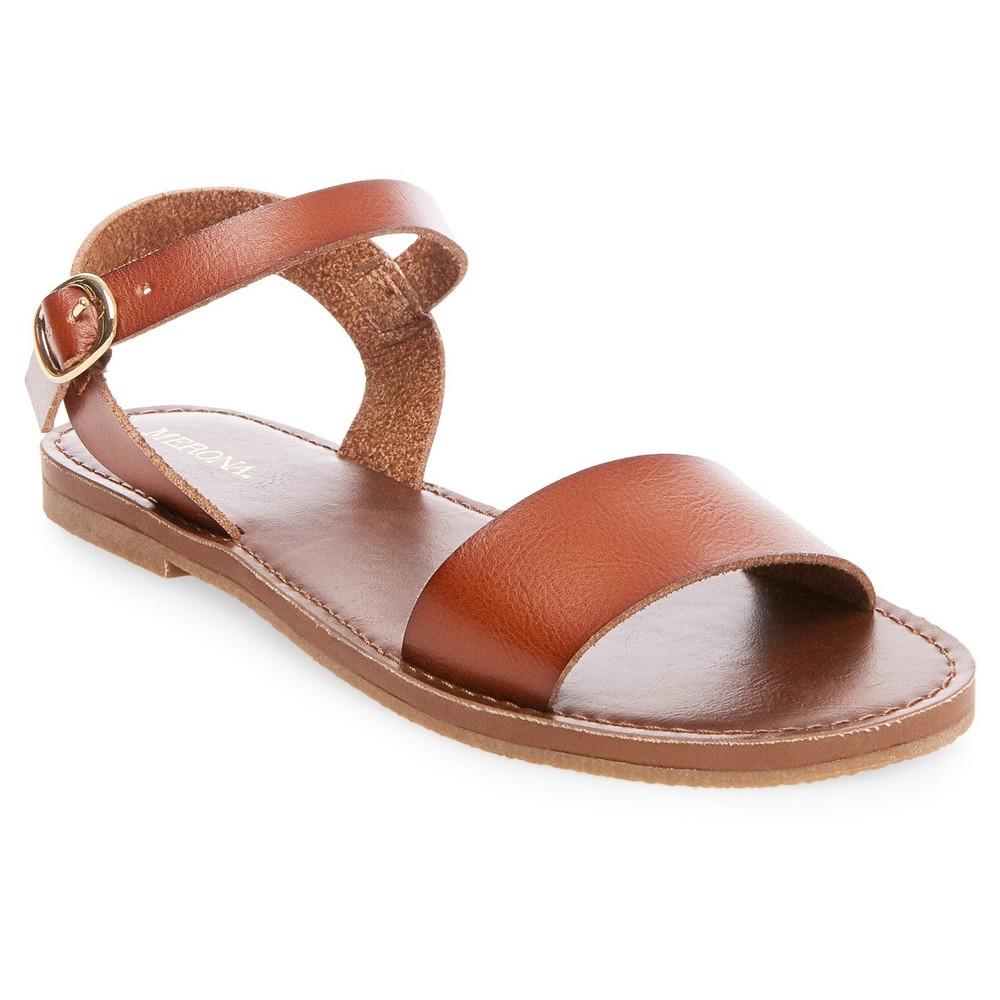 Womens Magnolia Quarter Strap Sandals - Merona Cognac (Red) 10