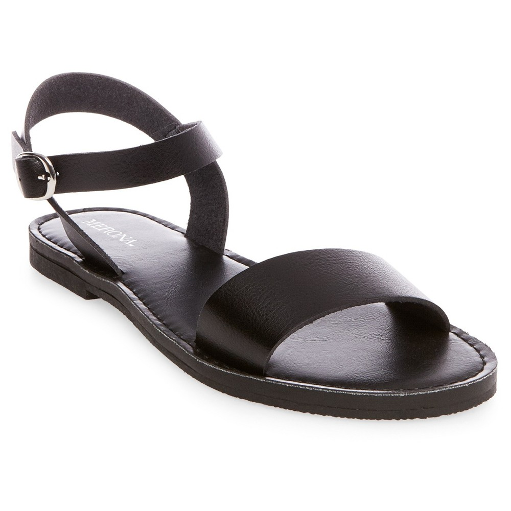 Womens Magnolia Quarter Strap Sandals - Merona Black 10