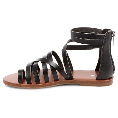 Women's Jessie Gladiator Sandals Mossimo Supply Co. - Black 6.5