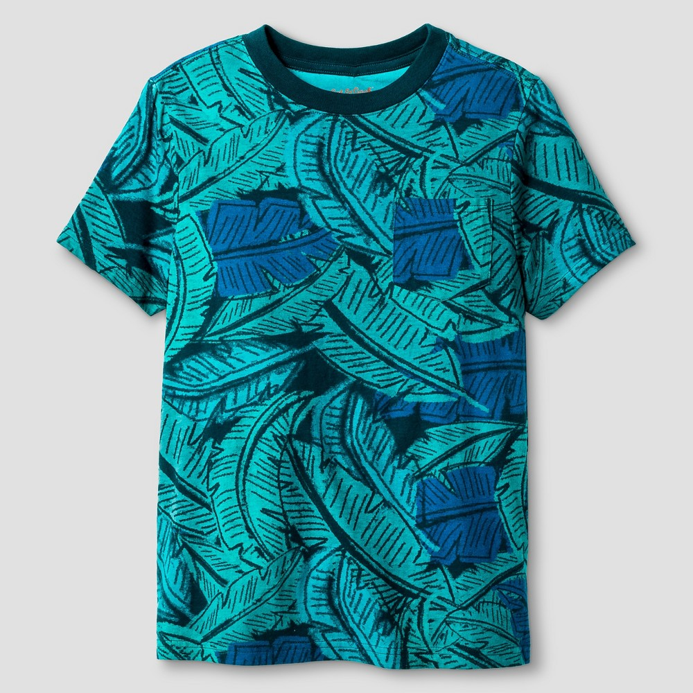 Boys Palm Print Pocket T-Shirt - Cat & Jack Green Xxl