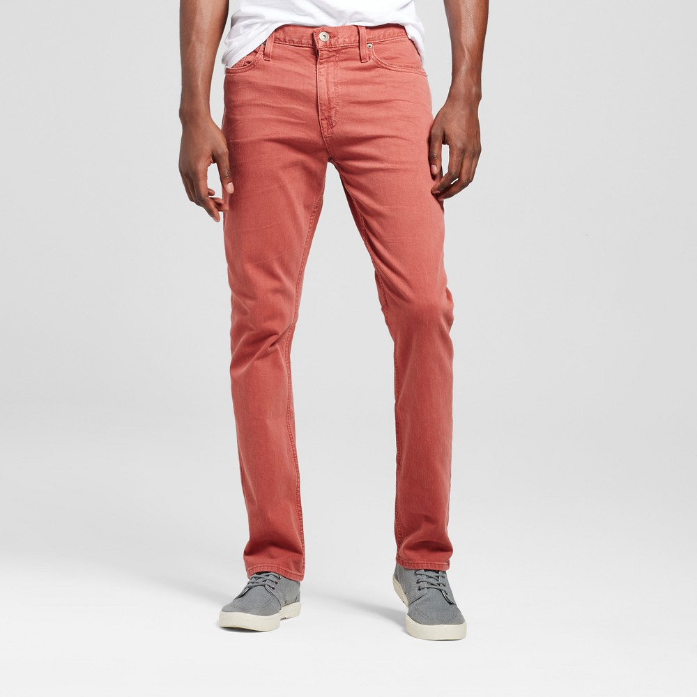 Mens Slim Fit Dye Jeans - Mossimo Supply Co. Red Wash 34x34