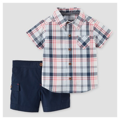 Baby Boys' 2pc Woven Shirt & Shorts Set - Just One You™ Made by Carter's® NB