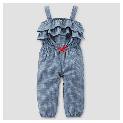 Baby Girls' Chambray Jumper - Just One You™ Made by Carter's® Blue 12M