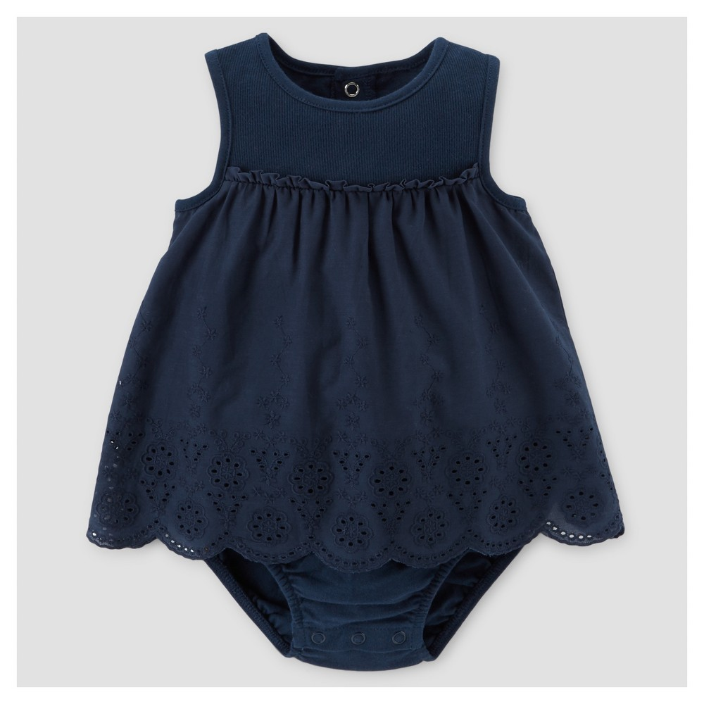 Baby Girls' Navy Sun Dress 3M – Just One You Made by Carter's, Infant Girl's, Size: 3 M, Blue