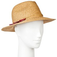 Women's Panama Hat with Multi Tassels - Merona Neutral. opens in a new tab.