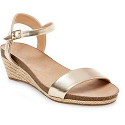 Women's Eve Footbed Wedge Ankle Strap Sandals - Merona™