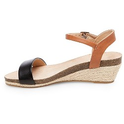 Women's Eve Wide Width Footbed Ankle Strap Wedge Sandals - Merona™