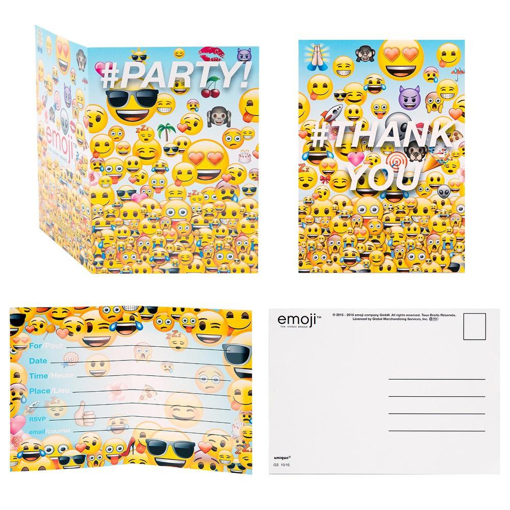 16ct Emoji Invitation Pack