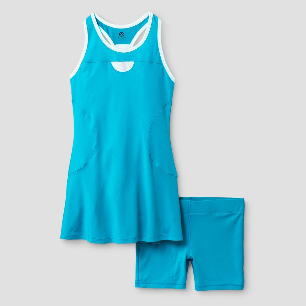 Girls' Tennis Dress - C9 Champion - Turquoise L